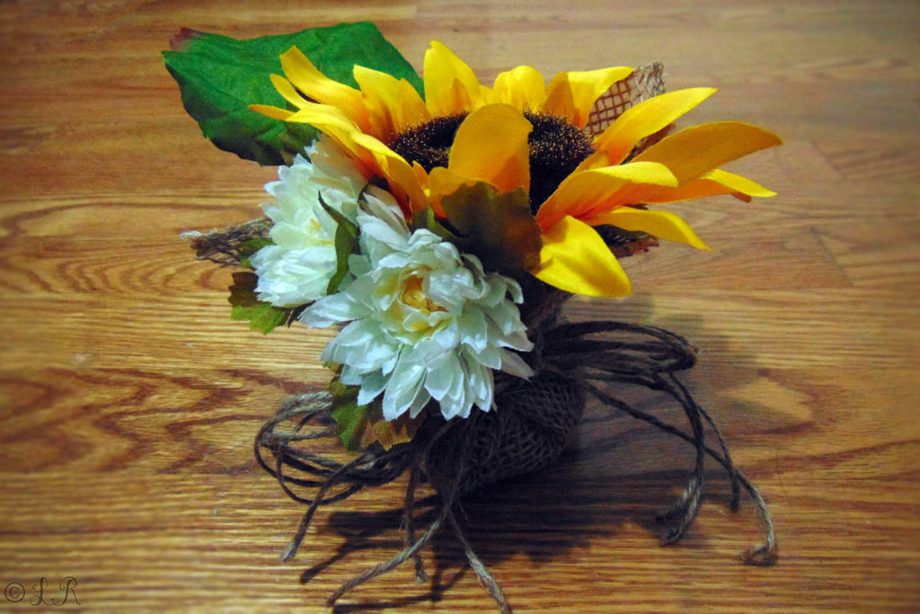 fall diy autumn floral arrangement