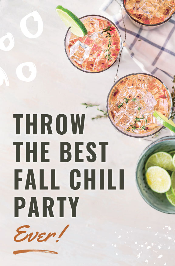 How To Throw The Best Fall Party with a Chili Bar! #fall #party #autumn #chili