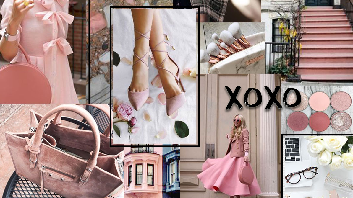 inspiration board fashion pink feminine