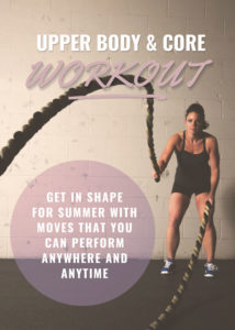 women's upper body and core workout and exercises for at home