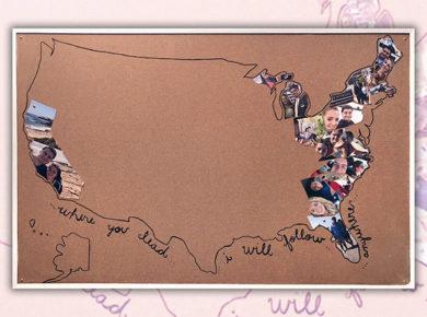 DIY Travel Map with Photos / USA Photo Travel Map