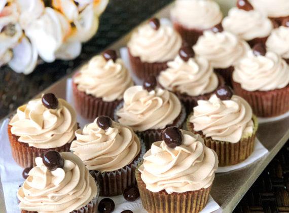 Delicious mocha cupcakes with chocolate espresso buttercream frosting recipe.