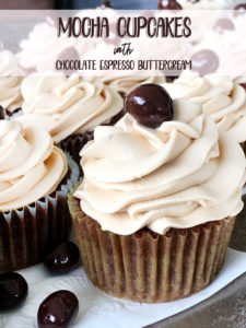Delicious mocha cupcakes with chocolate espresso buttercream frosting recipe.