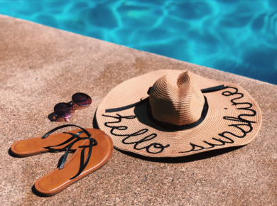 summer personalized beach hat diy craft do it yourself
