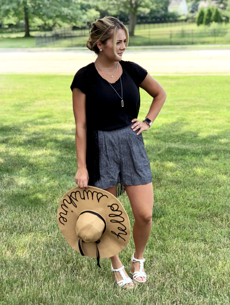 diy personalized summer floppy beach hat diy do it yourself