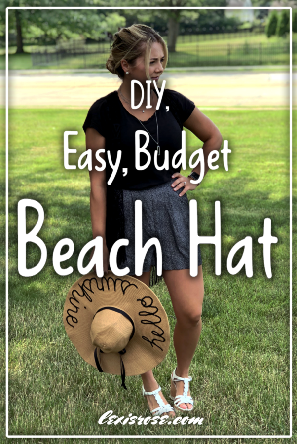 diy easy cheap beach hat personalized summer fashion do it yourself
