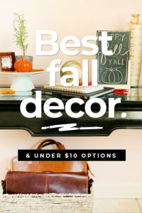 Best Fall Decorations for Cheap #autumn #decor #ideas #cheap #budget #decorations