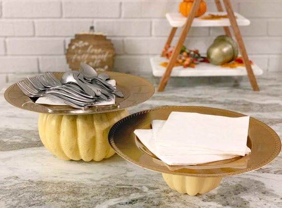 DIY, Easy, Dollar-Store Fall Serving Platters