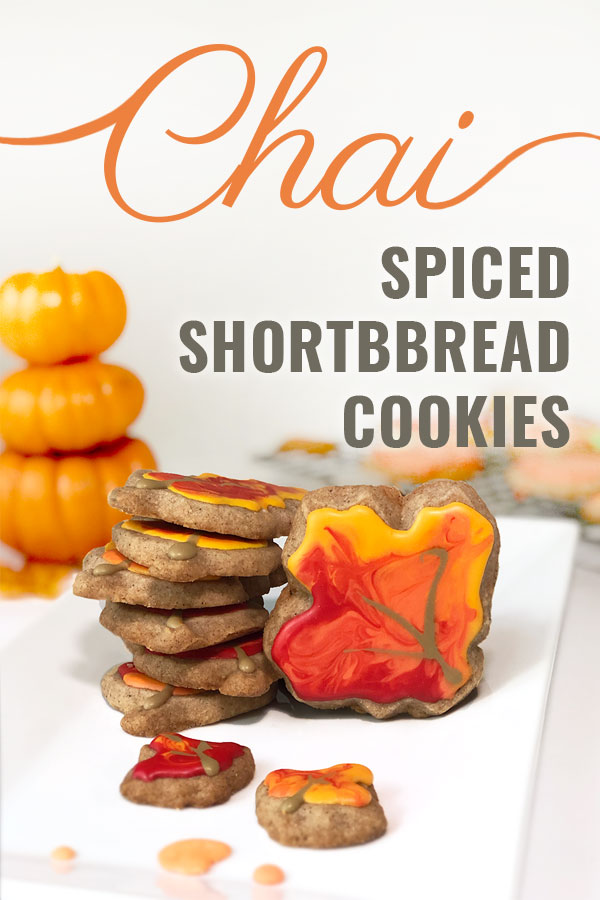 These subtle chai-spiced shortbread cookies are sweet and crumbly and SO delicious. They make the perfect addition to any fall dinner or party! #chai #cookies #shortbread #fall #autumn #dessert