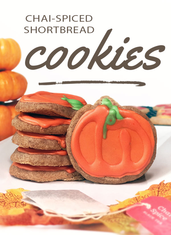 Delicious and delicate fall cookies, these chai-spiced shortbread cookies are the perfect fall dessert! Only slightly sliced, the subtle chai taste will welcome autumn in perfectly! Easy recipe, too! #chai #recipe #dessert #cookies #fall #autumn
