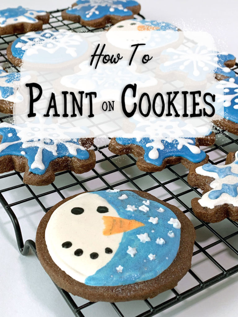 How To Paint Cookies - Snowman Hand-painted Cookies