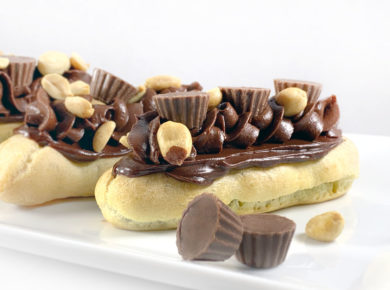 4 Peanut Butter Cup Eclair and Reece's Cups for Decoration