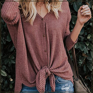 knit henley top amazon fashion