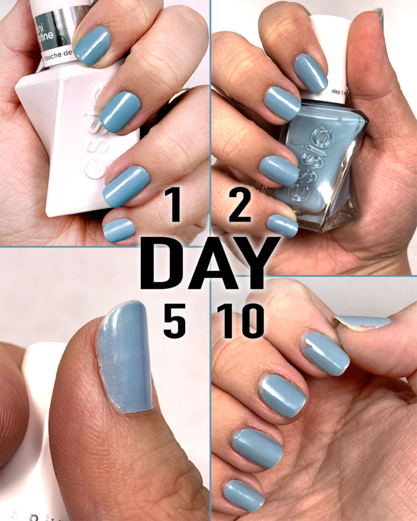 essie gel couture gel nail polish day 1-10