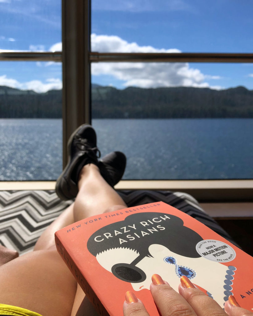 Reading on the cruise ship