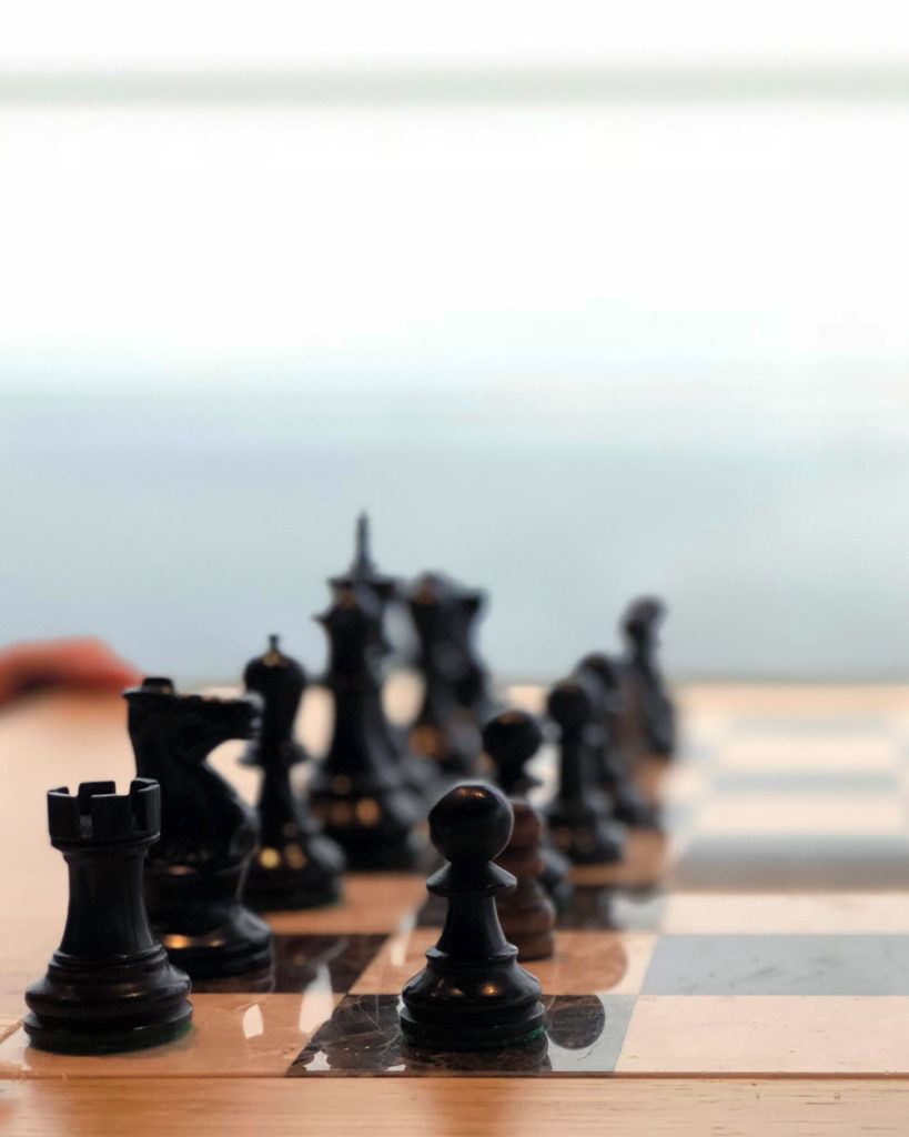 Playing chess on the Alaska Cruise