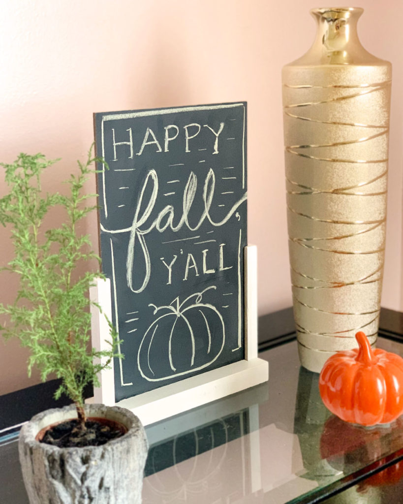 Happy Fall, Y'all Sign - Budget Fall Decorating Ideas