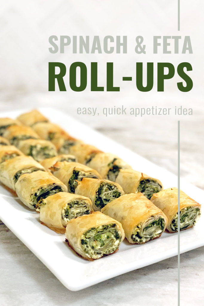 How to make spinach feta phyllo rolls, a delicious appetizer recipe!