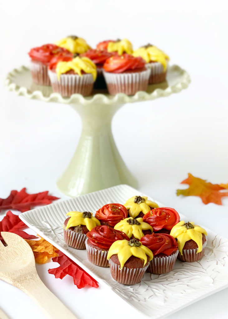 Fall Flower Cupcakes Recipes Decorating Tutorial