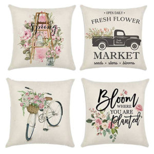 These cute spring pillow covers are just one of my great spring decorating ideas! #spring #decorating #decor #ideas