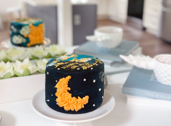 Sun and Moon Cake Tutorial - Triple Chocolate Cake Recipe - You are my sun, my moon, and all my stars cake