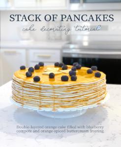 Stack of Pancakes Cake Decorating Tutorial