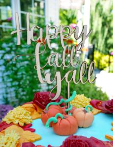 happy fall y'all fondant pumpkins fondant leaves buttercream fall foliage