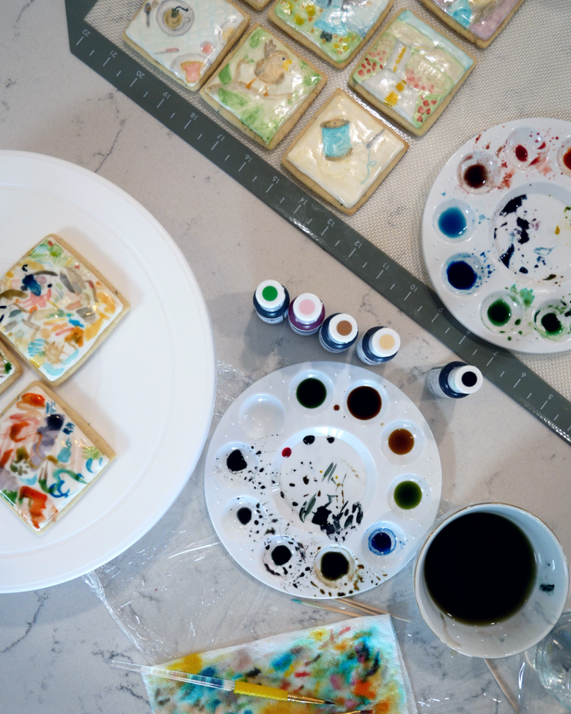 the sound of music watercolor painted royal icing cookies