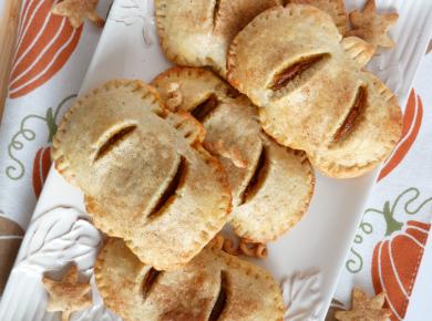 Pumpkin hand pies with chai spiced sugar